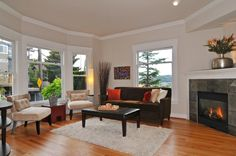 Staged Living Room Design by Seattle Staged To Sell