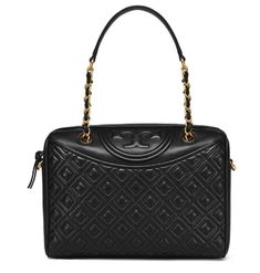 9f2d2502f060 Tory Burch Fleming Duffel Black Bag 39052 with Free Gift and Standard Free  Ship  ToryBurch