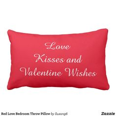 Red Love Bedroom Throw Pillow