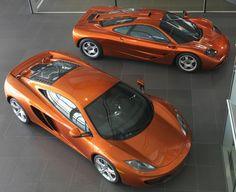 1994 McLaren F1 and 2012 McLaren MP4-12C