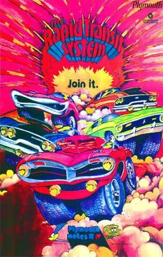 Psychedelic Plymouth ads from the late 60's