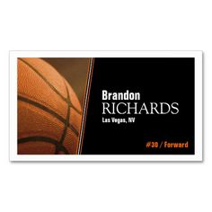 Basketball coach player referee club sport school business card basketball business cards colourmoves