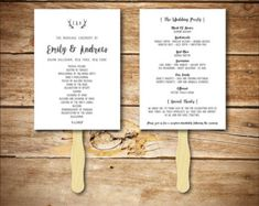 Wedding Program Fan Template printable by HopeStreetPrintables