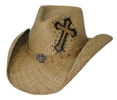 Living On A Prayer Straw Cowboy Hat