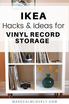 Store your vinyl record collection with these recommended IKEA products and hack ideas