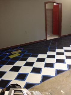 Tegels verven on pinterest painting tiles painted tiles and how to paint - Verf vloertegels ...