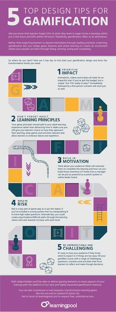 Gamification Design Tips Infographic - http://elearninginfographics.com/gamification-design-tips-infographic/