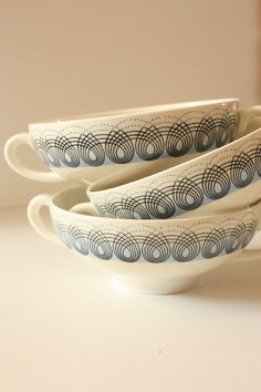 Wedgwood Persephone Soup Bowls by Eric by TriBecasVintage on Etsy