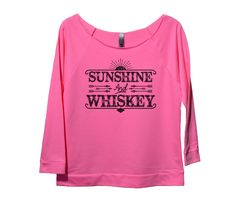 Sunshine And Whiskey Womens 3/4 Long Sleeve Vintage Raw Edge Shirt