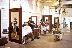 Immortal Beloved salon is beloved by clients for its skillful stylists, fragrant shampoos, and a cutting-edge feel— there's a tree growning in a clawfoot bathtub. Photograph by Scott Suchman.