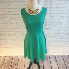 Turquoise Dress & Matching Necklace! Cute, light, bright dress from the limited! Comes with this matching statement necklace! The Limited Dresses Mini