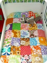 patchwork quilt, using mix-match different pieces, love the random look!