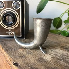 Excited to share this item from my shop: Miniature Vintage Norwegian pewter viking horn Norwegian Vikings, Viking Horn, Horns, Pewter, Miniatures, Buy And Sell, Etsy Shop, Traditional, Tableware