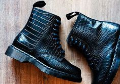 The Dr. Martens Pascal #Boot is #Croc #Embossed trendhunter.com