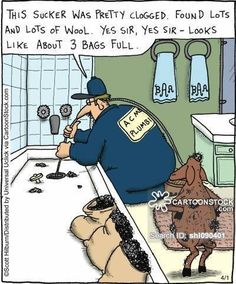 Clogged drain humor. | Baker & Sons Plumbing | (618)364-4211 | bakerplumbing.com/ |