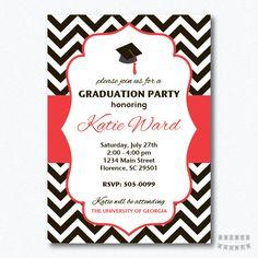 Chevron imprimible graduación fiesta por PrintsForYourEvents