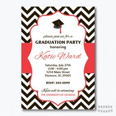 PRINTABLE Chevron Graduation Party