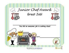 Cooking with kids is a great way to encourage children to learn about healthy foods.  Encourage children to become little chefs with our Junior Cooking Certificate for children.