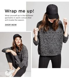 Mango - Fashion edit: Wrap yourself up in this season's knitwear garments Fashion Website Design, Fashion Graphic Design, Email Newsletter Design, Email Newsletters, Email Design Inspiration, Layout Inspiration, Email Layout, Fashion Portfolio Layout, Fashion Banner