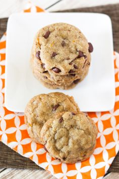 gluten free vegan orange chocolate chip cookies- add a bit of almond milk if dough is too dry