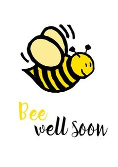Get Well Soon Funny, Get Well Soon Quotes, Xmas Cards, Diy Cards, Big Hugs For You, Get Well Messages, Bee Quotes, Thinking Of You Quotes, Feeling Sick