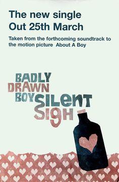 Badly Drawn Boy poster - Silent Sigh