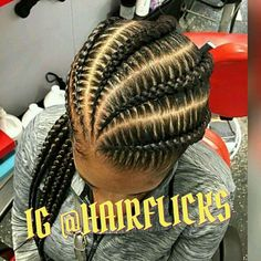 Large and Loose Braid with a High Pony - Braided Ponytail Hairstyles Ghana Braids Hairstyles, Braided Ponytail Hairstyles, Braid Hair, Braids Cornrows, Ethnic Hairstyles, Popular Hairstyles, Black Hairstyles, Bob Hairstyles, Black Girl Braids