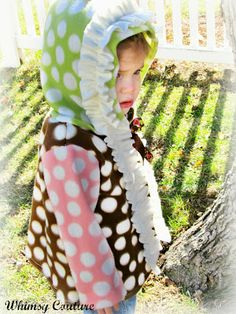 Newest Whimsy Couture Sewing Pattern listed!!! Intro price of $5.00 for this adorable fleece (hoodie) jacket pattern with options!!