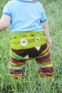 Knitted Monster Pants  (Pattern here: http://thewanderinglady.blogspot.com.au/2010/03/monster-longies-pattern.html)