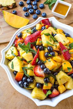 This colorful medley of melons and berries works beautifully for a picnic breakfast or as a sweet BBQ side.   Get the recipe from The Cozy Apron »