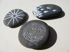 Piedras de río pintadas