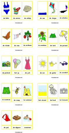 * Woordkaarten met lidwoorden, 27 kaarten...