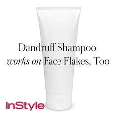 20 tips - Dandruff Shampoo Works on Face Flakes, Too