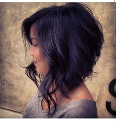Image result for long inverted bob with bangs 2015