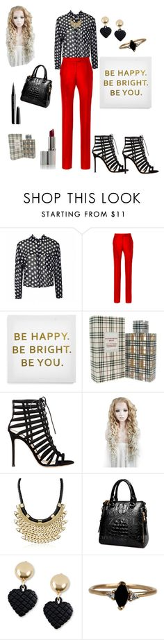 """""""bright lady"""" by prettycarole ❤ liked on Polyvore featuring ファッション, Ally Fashion, Preen, Ankit, Burberry, Gianvito Rossi, Moschino, LUMO と Marc Jacobs"""