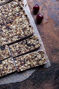 Chewy Cherry, Almond and Cacao Nib Granola Bars | halfbakedharvest.com @hbharvest