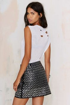 Nasty Gal Living After Midnight Studded Skirt | Shop Clothes at Nasty Gal!