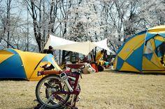 Korea spring camping with brompton