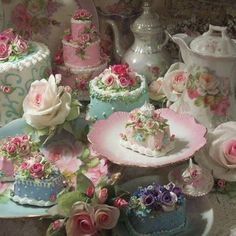 Theme I: Vintage Shabby Chic      Delectable hues, with multiple combination options would be so pretty.  I can see plastic frames incorporating the pinks, teals, lavenders, and creams.  Adding a cute sculptured design of a cupcake or rose or teapot would be an elegant touch.  Tea and cakes