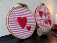Set of 2 Hand Embroidered Christmas Decorations £7.50 | Christmas ...