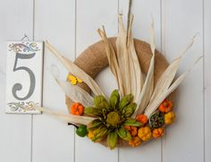 Fall pumpkins wreath, fall centerpiece, Thanksgiving natural decor, unique Thanksgiving mantel decor, made in Italy fall wreath, patio decor