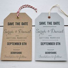 personalised save the date luggage tag by lucy says i do | notonthehighstreet.com