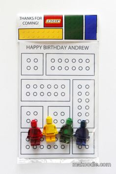 Lego Party Favor - crayons