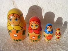 Vintage Russian Wooden Hand Painted Doll Matryoshka Made by Astra9