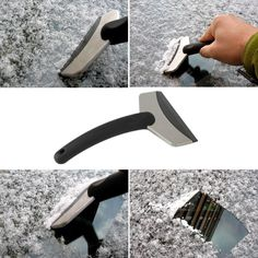Mini Handheld Stainless Steel Snow Shovel Ice Scraper Clean Tool for Car Auto Vehicle Car Window
