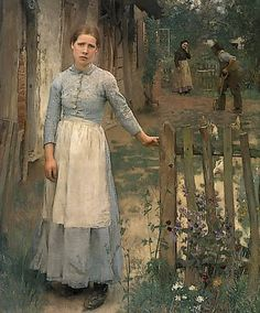 This is beautiful when seen in person. The Girl at the Gate (1889) by George Clausen