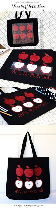 Earn Brownie Points with the Best DIY Teacher Gifts!   Tote Bag Tutorial