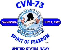 "USS GEORGE WASHINGTON CVN-73 ""Spirit Of Freedom"" United States Navy Shirt"