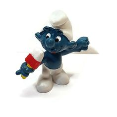 Smurfs 20053 Ice Lolly Smurf Eating Popsicle Vintage Peyo Schleich PVC Figure  #Schleich Scottish Bagpipes, Mcdonalds, Popsicles, Hot Dogs, Smurfs, Ice, Vintage, Toys, Classic