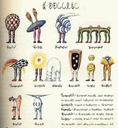 The Codex Seraphinianus is an illustrated book put together by the Italian artist and architect Luigi Serafini (born in Originally published in the book contains a depiction of an imaginary world, and all the… View Post Voynich Manuscript, Illuminated Manuscript, Antique Illustration, Book Illustration, Codex Gigas, Codex Seraphinianus, Italian Artist, Weird World, Luigi